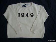 """GANT pullóver Dama Cuello Redondo Putty BLANCO TALLA GRANDE T.L """"1949"""" NUEVO"""