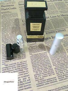 Tom Ford Tobacco Vanille Eau De Parfum Spray Sample 10 ml / 0.34 fl.oz. decant