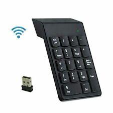 Wireless 2.4GHz 18 Keys Number Pad Numeric Keypad Keyboard for Laptop PC & Mac