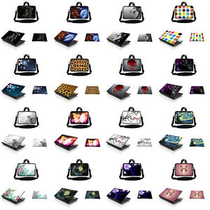 """17.3"""" Laptop Messenger Bag Case w Shoulder Strap & Matching Skin & Mouse Pad I"""