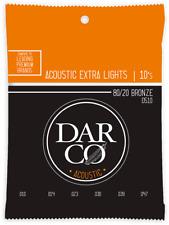 JEU DE CORDES GUITARE ACOUSTIQUE DARCO D510 - EXTRA LIGHT 10-47 BRONZE