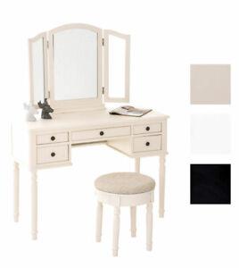 Schminktisch Madeleine mit 3 Spiegel+Hocker Frisiertisch Landhaus Kosmetiktisch