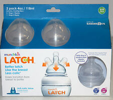Munchkin Latch 4 Ounce Bottle with Bonus Nipple - 2 Pack    *NEW*