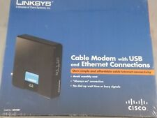 Linksys CM100 Cable Modem with USB and Ethernet Connections New Sealed