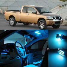 Ice Blue Light Bulb SMD Interior LED Package Kit For Nissan Titan 2004-2015