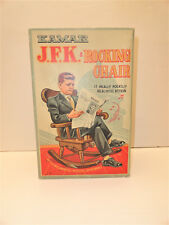 Former President John F. Kennedy JFK Rocking Chair Doll Kamar Wind Up W/ Box NIB