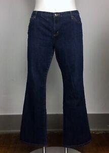 Michael Kors 16 Dark Wash Blue Denim Flare Bootcut Jeans Slight Stretch 1981