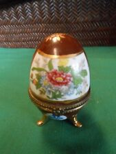 """Great Collectible Porcelain Egg """"Trinket Box"""" Figure.Free Postage Usa"""