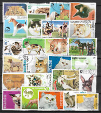CATS and DOGS Collection Packet of 25 Different WORLD Stamps (Lot.1)