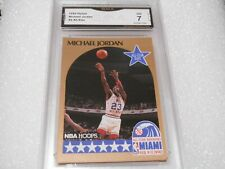 Michael Jordan GRADED CARD!! 1990 Hoops #5 Chicago Bulls HOFer! 7-1!!