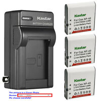 Kastar Battery Wall Charger for Casio NP-40 CNP40 & Casio Exilim EX-FC100 Camera