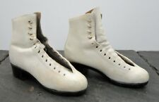 Vintage Riedell Women's White Sz. 4 Roller/Figure Skate Boots Red Wing, Mn