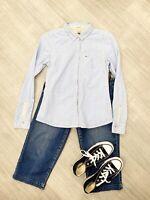 Tommy Hilfiger Denim Long Sleeve Shirt Block Shirt Blue Sz M blogger
