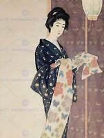 CULTURAL HISTORY JAPAN Hashiguchi Goyo GEISHA POSTER ART PRINT PICTURE BB662B