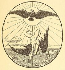 HANS THOMA - Ikarus - Lithografie 1902