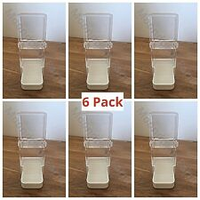 6x Bird Feeder/Water Drinker Seed Clipper Fountain Cage Parrot Cockatiel Budgie
