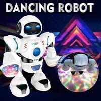 Toys For Boys Electric Music Dancing Robot LED Light Kids Toy Walking Gift V4A4