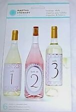 Martha Stewart Doily Lace 3 Sets of 6 Beverage Labels Total 18 NEW