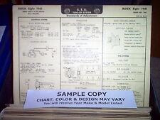 "1934 Nash SIX Series 1220, Big Six Models (116"" Wheelbase) AEA Tune Up Chart"