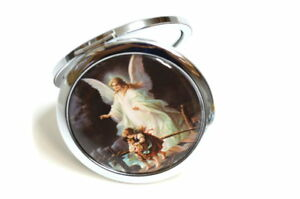 Mirror Compact Gifts-Baptism Party Favors-Guardian Angel Baptism Gift.