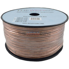 Car Home Audio Speaker Wire Transparent Clear Cable 12AWG 250ft 12/2 Gauge