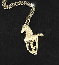 HORSE & WESTERN JEWELLERY JEWELRY LADIES WOMENS CANTERING  HORSE NECKLACE GOLD
