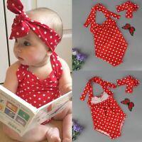 Kids Baby Girls Bikini Set Swimwear Swimsuit Bathing Suit Beachwear & Headband