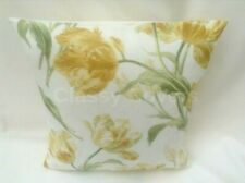 "Laura Ashley Designer Cushion Cover ""GOSFORD"" CAMOMILE Fabric Various Sizes"