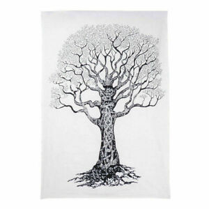 White & Black Wall Hanging Dry Tree Hippie Boho Indian Gypsy Tapestry Poster Art