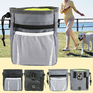 Dog Puppy Treat Pouch Hands Free Training Waist Bag Drawstring Carries Portable