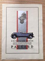 """pictet/"""" n11x17 Auto Pôster Francês 1920/' S Ste Des Automóveis Francaises /""""Piccard"""