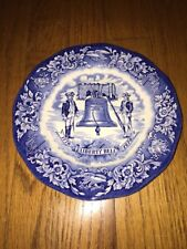 """Avon Liberty Bell Bicentennial Plate Collectible 8"""" Enoch Wedgwood Fine China"""