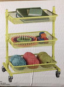 Mesh Storage Rolling Cart 3 Tier Shelf Trolley Home Kitchen Craft Organizer Rack
