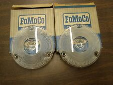 NOS OEM Ford 1957 1958 Truck Pickup F100 Park Light Lamp Lenses + Large Truck