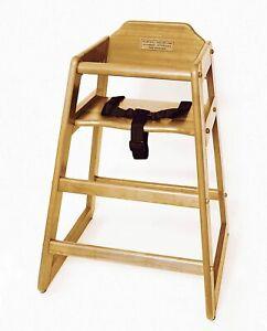 "Lipper Child's High Chair, 20"" W x 19.75"" D x 28.75"" H, Natural Finish"