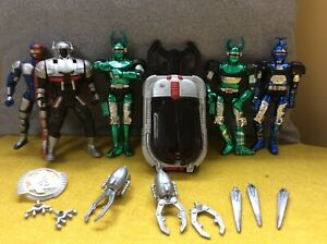 Vintage Bandai Beetleborgs Figures and Rare Transformation Device, VR Troopers