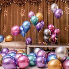 "50 Metallic Balloons Chrome Shiny Latex 12"" For Wedding Birthday Party Baby Deco"