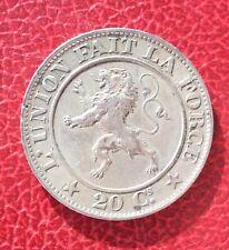 Belgique - Léopold Ier -  Très Jolie monnaie de 20 Centimes 1861
