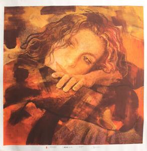 Marta Mangiabene serigrafia su tela Volto 70x70 anno 2009