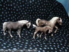 Hagen Renaker Horse Morgan Set of 3 Mare, Stallion, & Colt Figurine Miniature