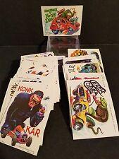 Weird Wheels Complete Sticker set #1-55 : 1980 Topps