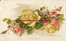 Catherina Klein Flowers Art 1910 Vintage Postcard 1.2