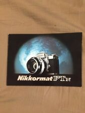 Nikon Nikkormat FTN 35mm Film SLR Camera Sales Brochure 14 Pages New Old Stock