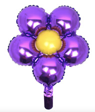 Purple & Yellow Flower Foil Balloon - Decoration for Party