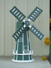 "46"" Poly Dutch Windmill  (Green with WhiteTrim)"