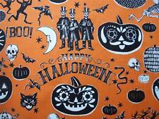 Astuto calaveras Naranja Halloween DAYS OF THE DEAD Alexander Henry Tejido