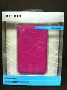 Belkin Silicone Soft Gel Grip Sleeve Case for iPod Classic 80GB/120GB/160GB Pink