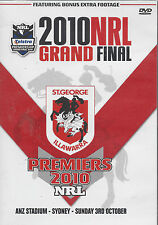 St.George Dragons NRL GRAND FINAL Full Game  2010 DVD BRAND NEW Free Post