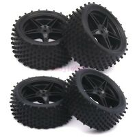 4PCS RC 1:10 Off-Road Car Buggy Foam Rubber Tyre Tires & Wheel Rim 66010-66030