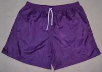 High Five Purple Plain Nylon Soccer Shorts - Men's Small